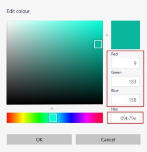 Successfully Getting Image Color Codes Using Paint